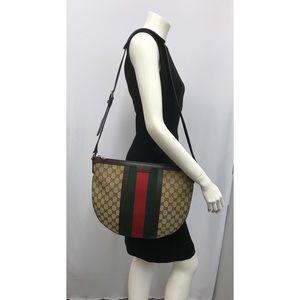 Gucci GG Logo Red Green Stripe Bag